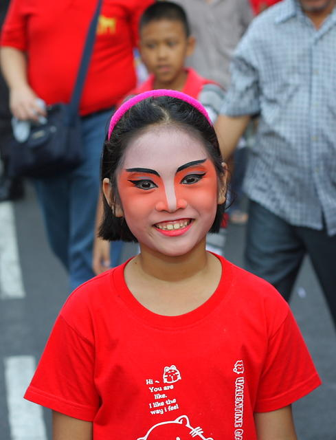 Painted Face for CNY
