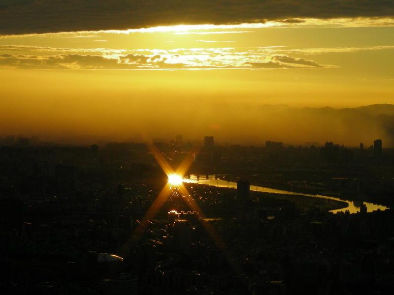 Sunset from Taipei 101