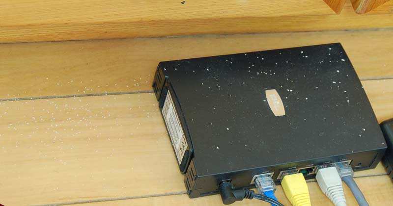 Termite Dust on Router