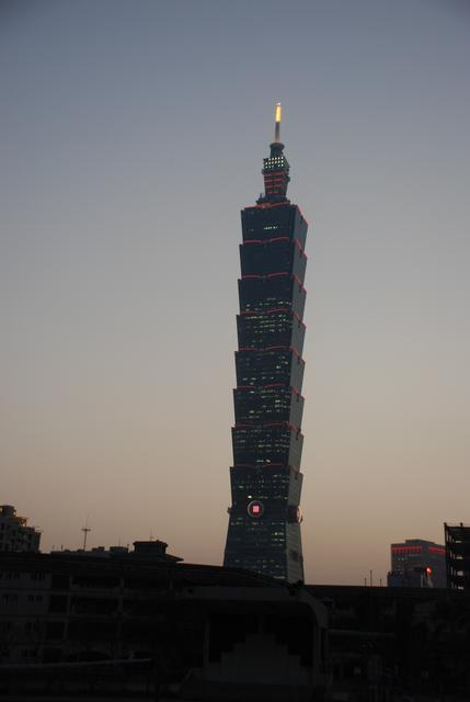 Taipei 101 sunset view