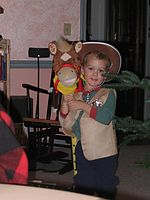 Click Here to view Gavin in his cowboy outfit in Full Size