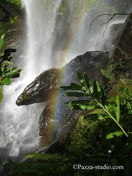 Rainbow waterfall in Taipei