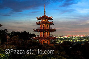 Pagoda in the sunset