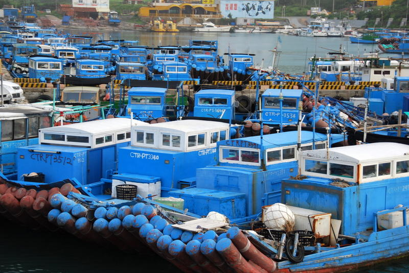 Fishing boats at Hengchun