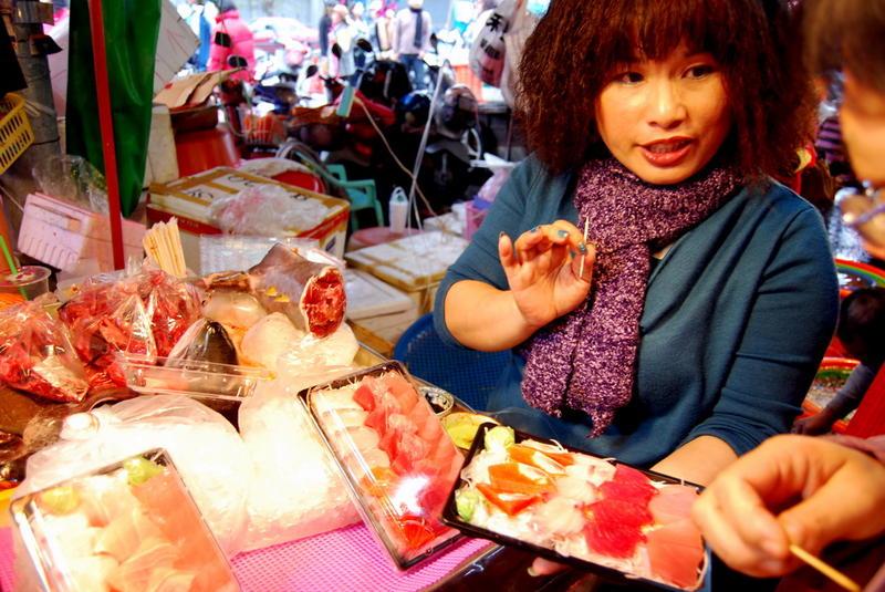 Sashimi, Dong gang fish markets