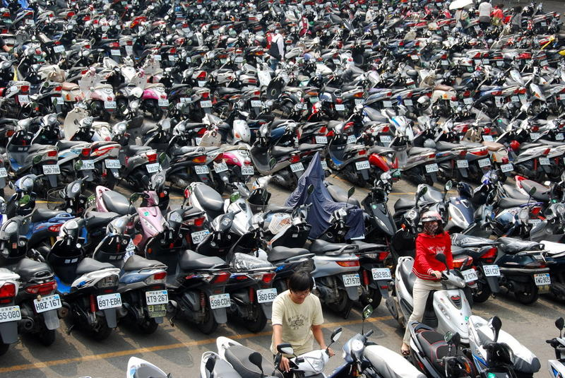 University parking lot