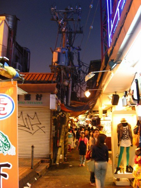 Shilin night market at night
