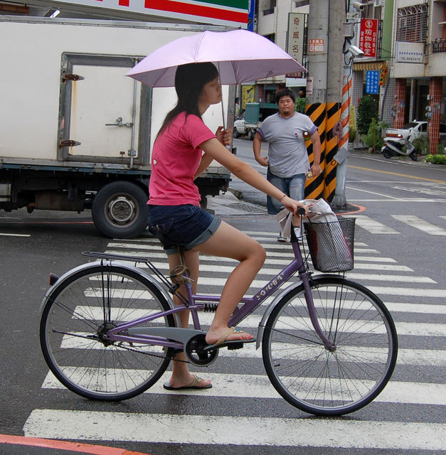 Bicycle Umbrella Girl