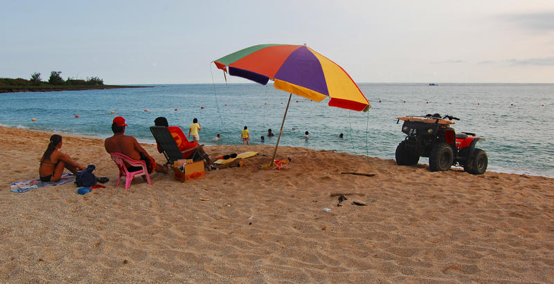 Lifeguards at Baisha Beach