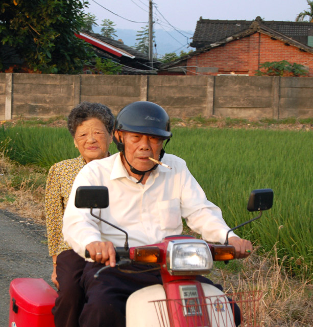 Scooter Old Couple