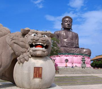 Lion and Budha