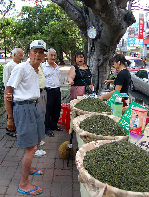 Selling Tea in the Park