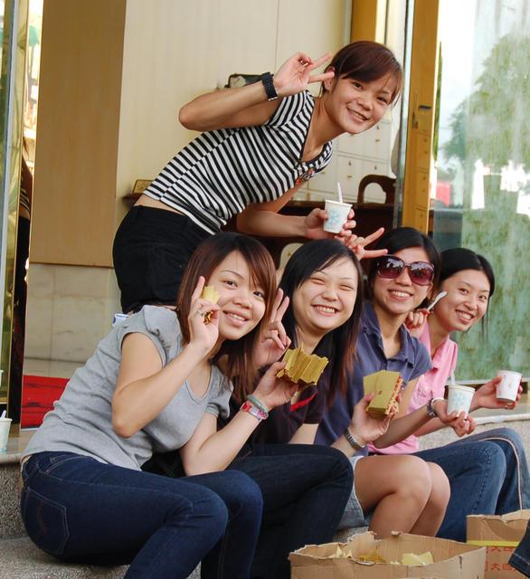 Girls outside KTV