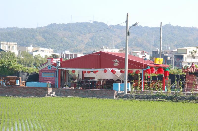 Temple in Rice Fields