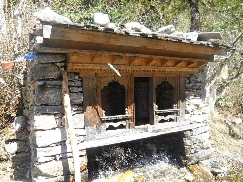 Prayer wheel at Langtang