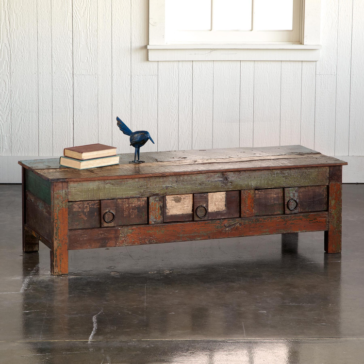Reclaimed Wooden TV Console