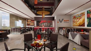 Interior Design & Rendering pizza hut restaurant interior