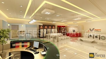 3D Interior Showroom Rendering